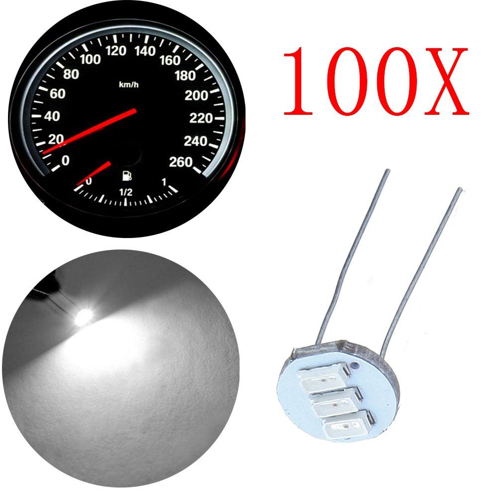 cciyu 10Pcs 4.7mm-12v Car White Mini Bulbs Lamps Indicator Cluster Speedometer Backlight Lighting For GM GMC