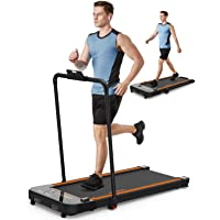 UREVO 2 in 1 Under Desk Treadmill, 2.5HP Folding Electric Treadmill Walking Jogging Machine for Home Office with Remote…