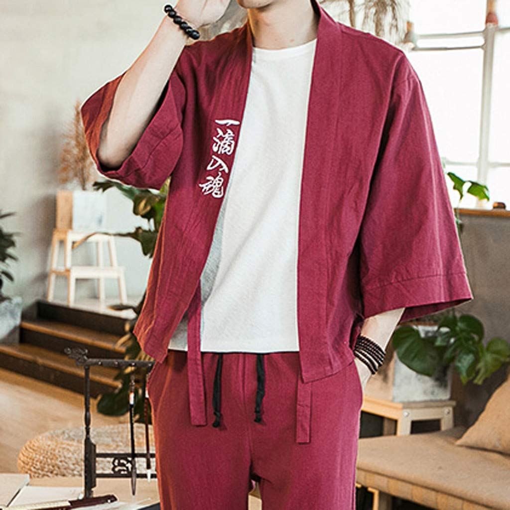 Amazon.com: Tomppy Yukata - Chaqueta tipo cárdigan japonesa ...