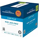 "Hammermill Copy Plus Multipurpose Laser, Inkjet Printer & Fax Machine Paper, 8.5"" x 11"" Letter Size, 92 Bright White, ColorLok, 20 lb, 99.99% Jam Free, Case Of 5 Reams (105350)"