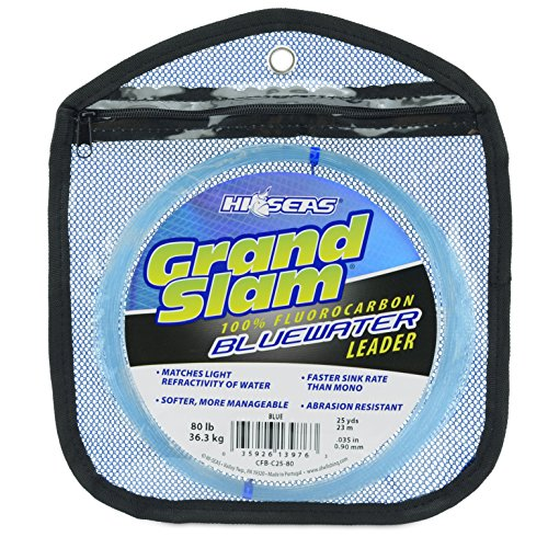 - HI-SEAS CFB-C25-80 Grand Slam Bluewater Fluorocarbon, Blue