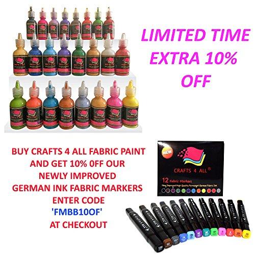 Fabric Paint 3d Permanent 24 Colors Set Marker Pens Style