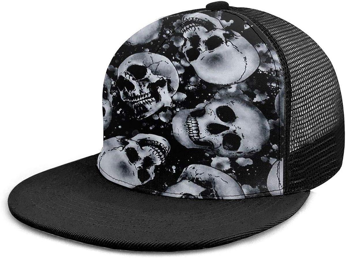 Unisex 100/% Polyester Skull Baseball Cap Classic Trucker Baseball Cap for Unisex