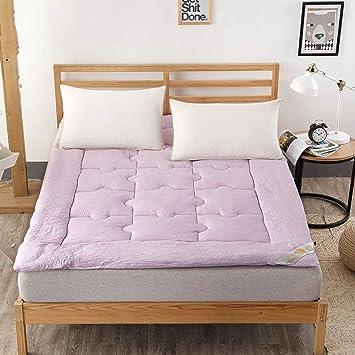 Matelas confortable Coussin de matelas de couleur unie, couvre-lits ...