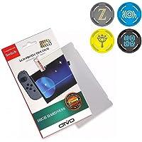 Película De Vidro 3.3mm 9H + 4 Grip Zelda Do Joy-con Para o Nintendo Switch