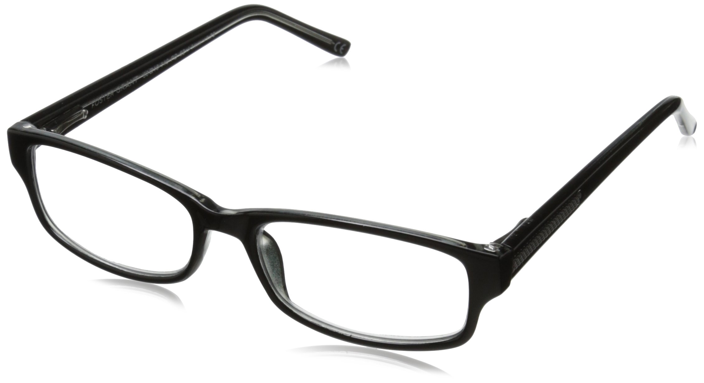 Foster Grant James Multifocus Glasses, Black, 1.5