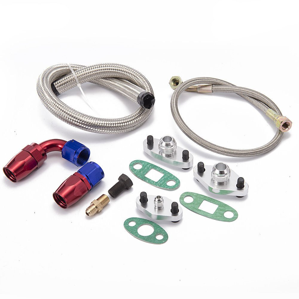 Amazon.com: Epman TK-WXB07 For Toyota Supra 1JZGTE 2JZGTE 1JZ/2JZ Single Turbo Oil Feed Line Kit Flange Kit: Automotive