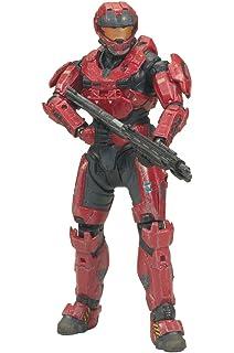 Male Action Figure RED McFarlane Toys Halo Reach Series 2 Spartan CQC Custom
