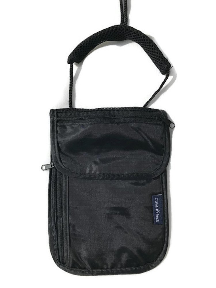 Brustbeutel - Umhängetasche für die Reise, sichere Aufbewahrung für Geld, Pässe, Dokumente mit Nackenschutz Pässe BB001