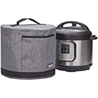 HOMEST Dust Cover with Pocket Compatible with Instant Pot, These Pressure Cooker Cover Have Wipe Clean Liner for Easy Cleaning, 3 Cover Sizes, Grey