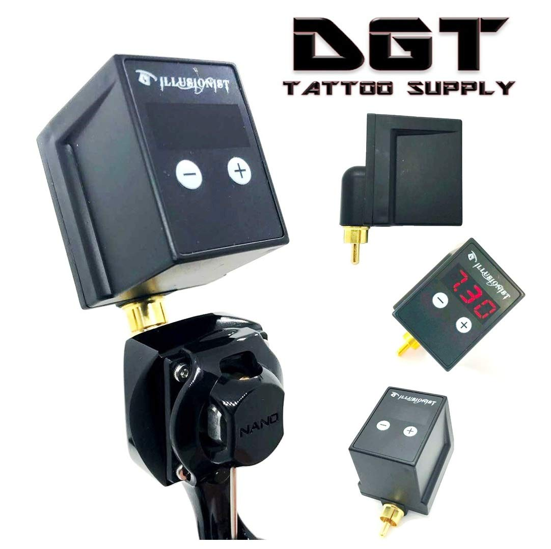 DGT Digital Display Rechargeable Tattoo Machine Battery Pack RCA/DC CONNECTOR (RCA) by DGT Tattoo Supply