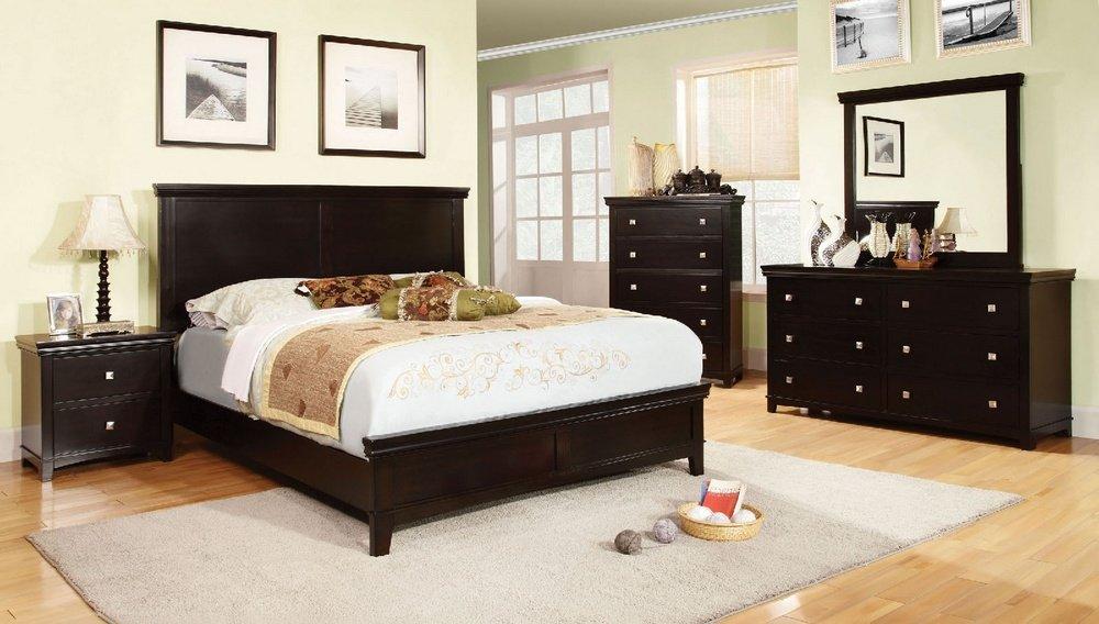 Amazon.com: 247SHOPATHOME IDF-7113EX-EK Bed-Frames, King, Espresso ...