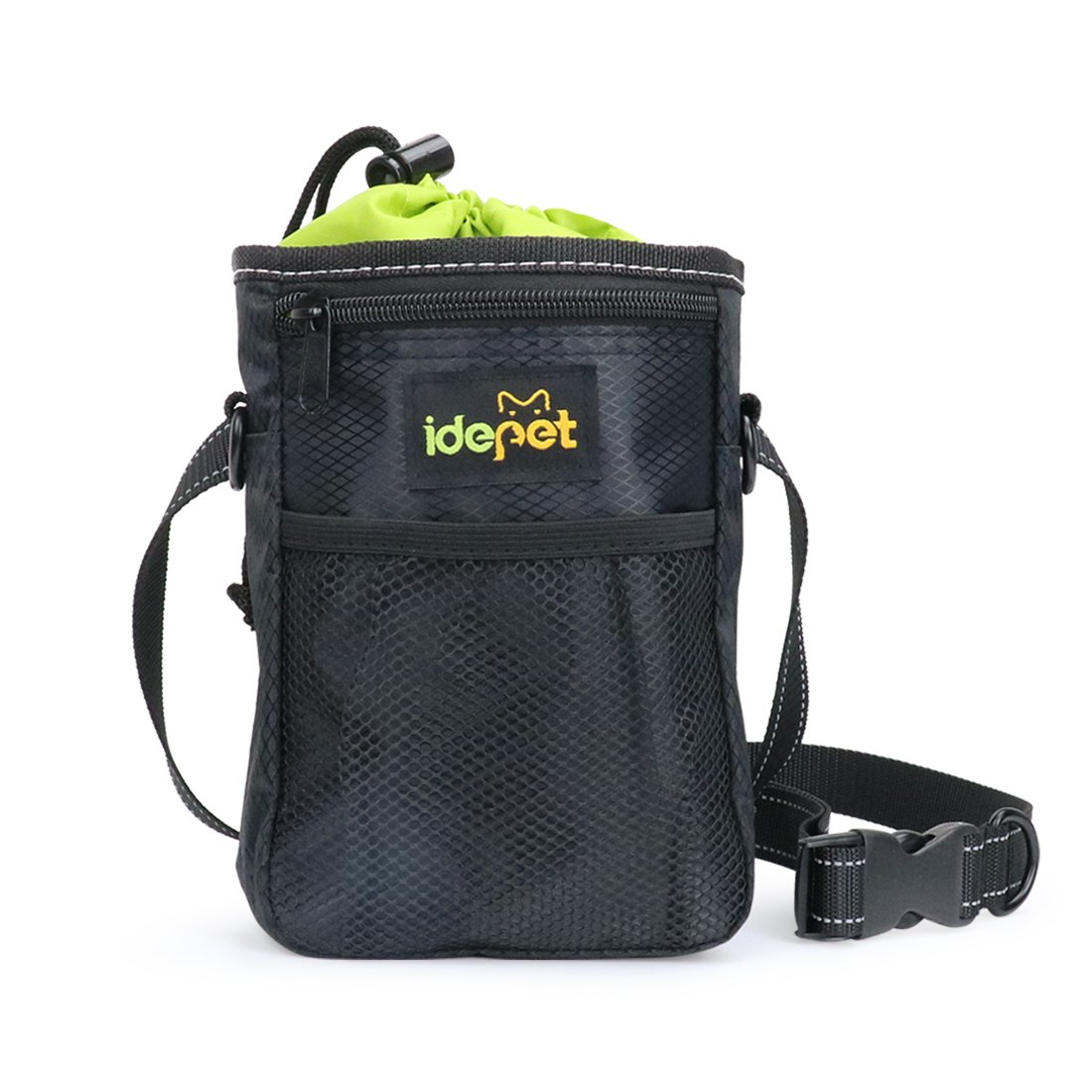 Dog Treat Training Pouch with Waste Bags Dispenser, Waterproof Pet Training Bag, Adjustable Dogs Pouch to Carry Dog Training Treats, Toys,Phones, Keys for Walking,and Training By Idepet