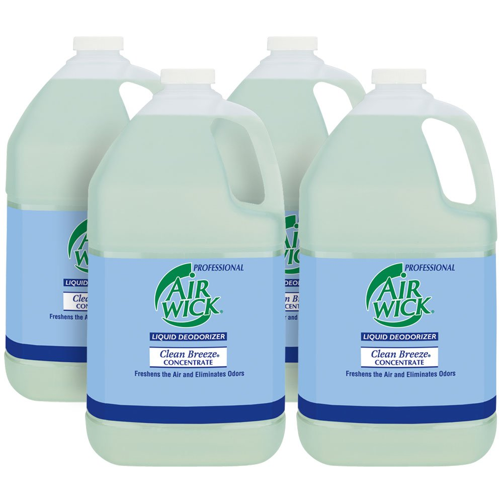 Image of Health and Household Professional Air Wick Liquid Deodorizer Concentrate, Clean Breeze, 4gal (4X1gal)