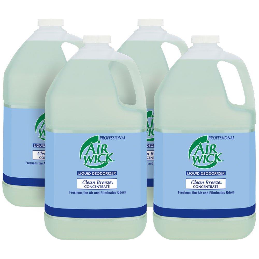 Professional Air Wick Liquid Deodorizer Concentrate, Clean Breeze, 4gal (4X1gal) by Air Wick
