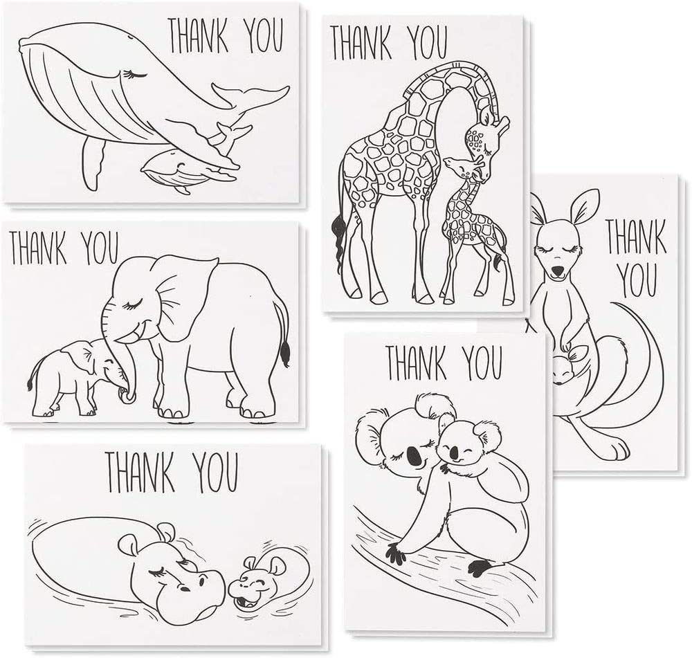 Sea Turtle Baby Shower Thank You Card and Favor Tag Template Baby Shower Thank You Favor Package Thank You Card and Favor Tag Bundle