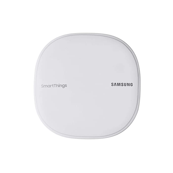 Samsung SmartThings Wifi Mesh Router Range Extender SmartThings Hub Functionality Whole-Home WiFi Coverage - Zigbee, Z-Wave, Cloud to Cloud Protocols - White (Single)