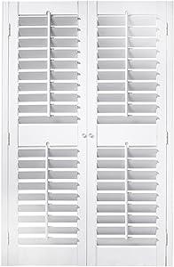 "Interior Shutter Kit 2 1/4"" Louver, Plantation Style (Paint Finish White, 29-31"" W x 48"" L)"