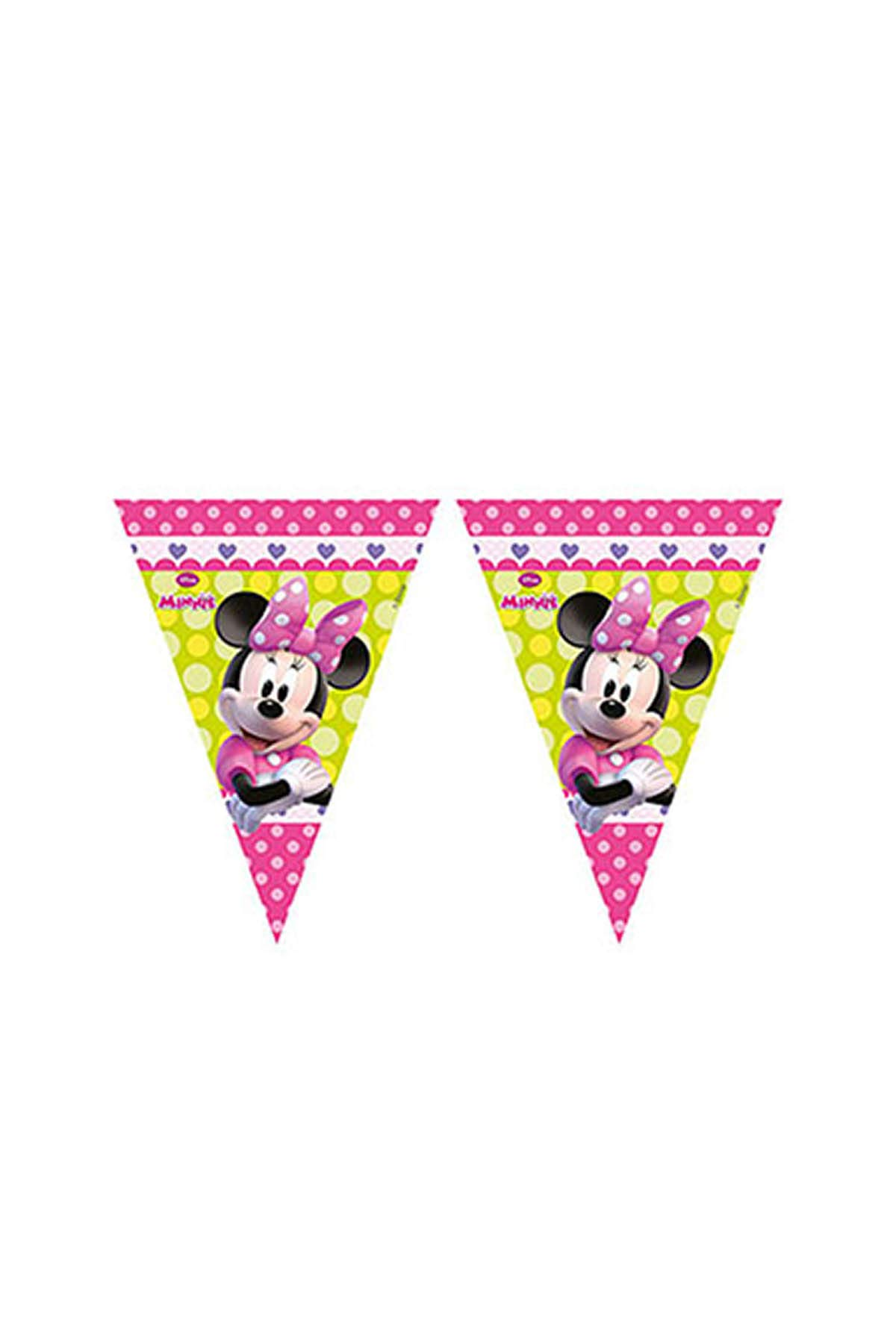 Disney Minnie Mouse Happy Birthday Party Themed Flag Bunting Banner 2.3m Long