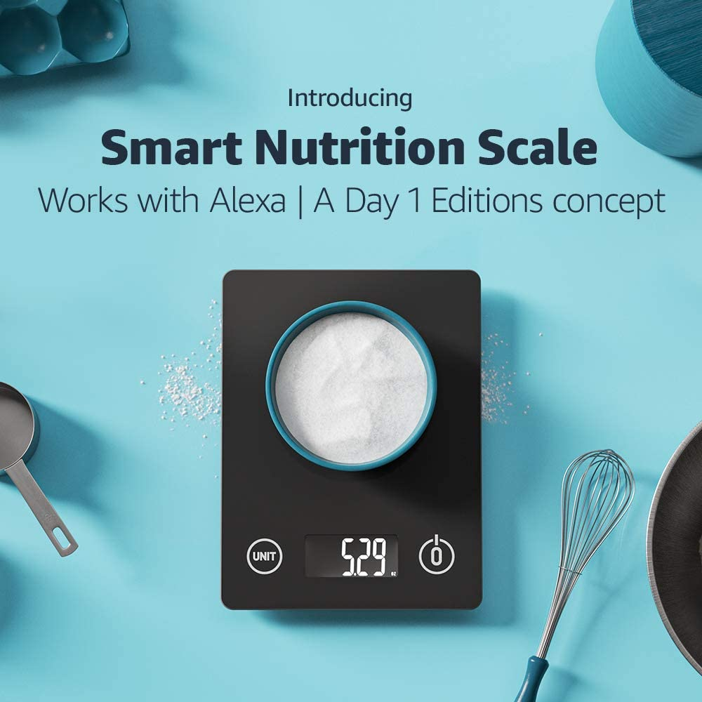 Smart Nutrition Scale | Works with Alexa | A Day 1 Editions concept