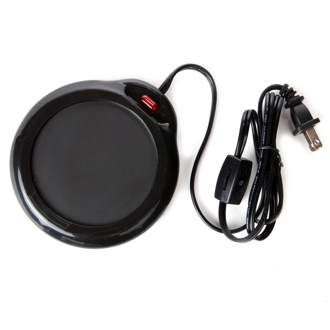 Home-X Mug Warmer, Desktop Heated Coffee & Tea - Candle & Wax Warmer (Black)