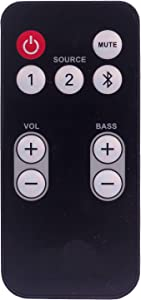 Replacement Remote Control for Polk Audio FR1 Powered Soundbar and surroundbar 2000