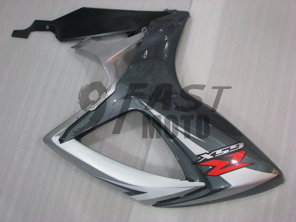 9FastMoto Fairings for suzuki 2006 2007 GSX-R600 GSX-R750 K6 06 07 GSXR 600 750 K6 Motorcycle Fairing Kit ABS Injection Set Sportbike Cowls Panels S0514 Gray /& Silver