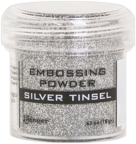 Tinsels Embossing Powder (Ranger Embossing Powder-Silver Tinsel)