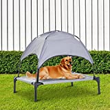 Festnight Elevated Cooling Pet Dog Bed Cot with Canopy Shade Indoor or Outdoo 30″