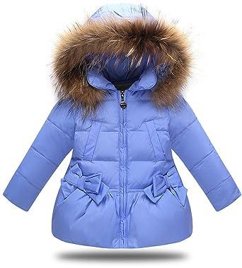 best website 57273 27ebe VEVESMUNDO® Daunenjacken Daunenmantel Winterjacke Babyjacke Kindermantel  Trenchcoat für Kinder Mädchen Rosa Rot Blau