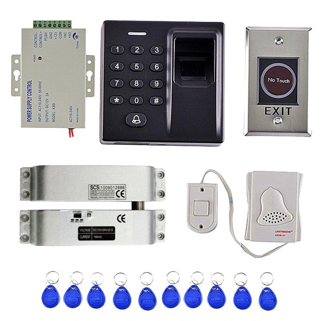 Perfk 500指紋 アクセス コントロール 10キー カード キーパッド スマートロック ワーク オフライン アクセス制御システム B07D8KCGBP