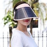 YUANSHOP1 サンバイザー 日よけ帽子 UVカット レインハット レインバイザー 自転車/キャップ/釣り 紫外線対策 日焼け対策 つば広 ミラー ワイド 帽子 レディース メンズ 高耐久性