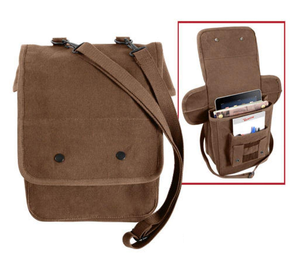 BlackC Sport Earth Brown Military Style Heavyweight Canvas Map Case Shoulder Bag by BlackC Sport