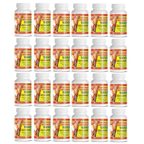 24 Pack PURE Garcinia Cambogia Extract Natural Weight Loss 60% HCA Diet Burn Fat by Weight Loss Supplements