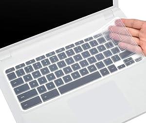 CaseBuy Keyboard Skin Cover Compatible 2018/2017 Chromebook R 11 Convertible CB5-132T / Chromebook 11 CB3-131 CB3-132 / Acer Chromebook R 13 CB5-312T Chromebook (Clear)