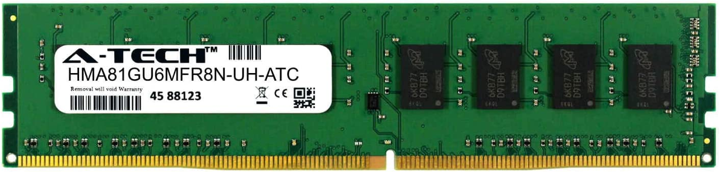 A-Tech 8GB Replacement for Hynix HMA81GU6MFR8N-UH - DDR4 2400MHz PC4-19200 Non ECC DIMM 1rx8 1.2v - Single Desktop & Workstation Memory Ram Stick (HMA81GU6MFR8N-UH-ATC)