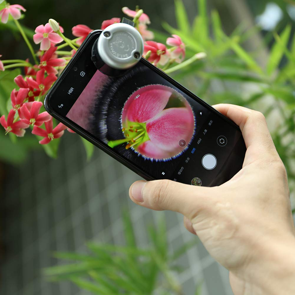 OMG/_Shop 30X Zoom LED Clip-type Loupe Phone Microscope Cellphone Microscope for Universal Mobile Phones