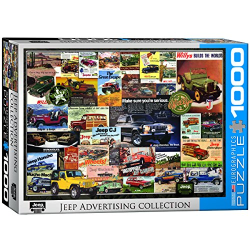 EuroGraphics Jeep Vintage Ads Jigsaw Puzzle (1000 Piece) -