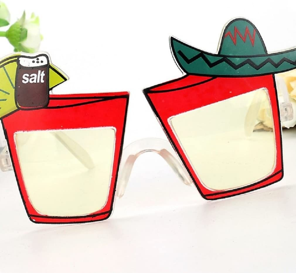 Adult Hawaiian Cocktail or Tequila Style Glasses Fancy Dress Funny Accessory