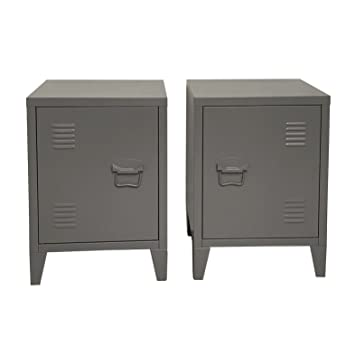 Attrayant Urban Pair Of Loft Bedside Tables/INDUSTRIAL VINTAGE LOCKER STYLE SIDE  CABINETS