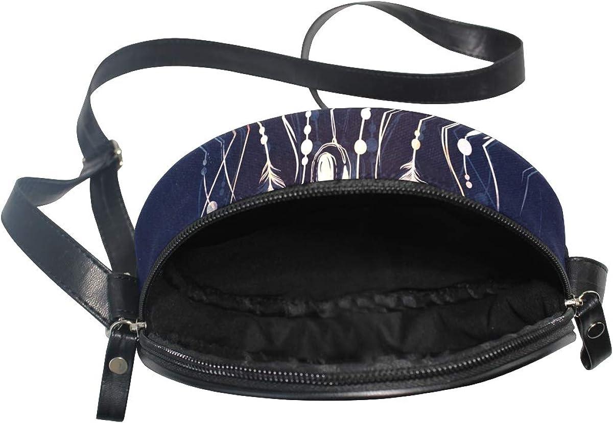 KEAKIA Dreamcatcher From Branches Of Tree Round Crossbody Bag Shoulder Sling Bag Handbag Purse Satchel Shoulder Bag for Kids Women