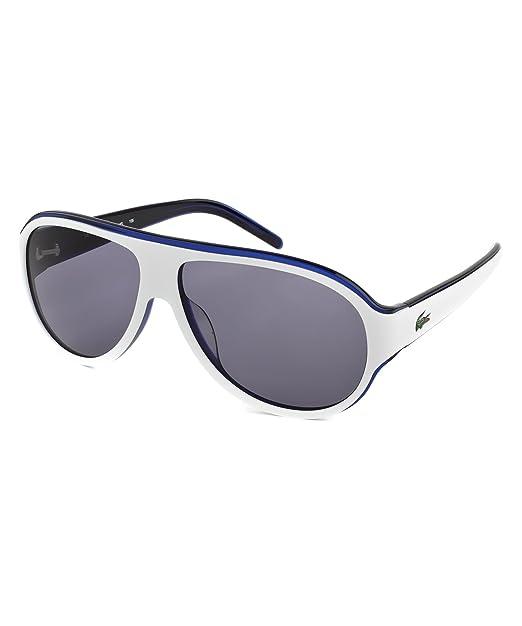 17d09e40ba67 Lacoste Two Tone Aviator White Blue Sunglasses - L644S 105 59 L644S 105 59  59 Grey