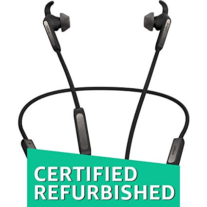 (Renewed) Jabra Elite 45e Wireless Bluetooth in-Ear Headphones (Titanium Black) Mobile Phone Bluetooth Headsets at amazon