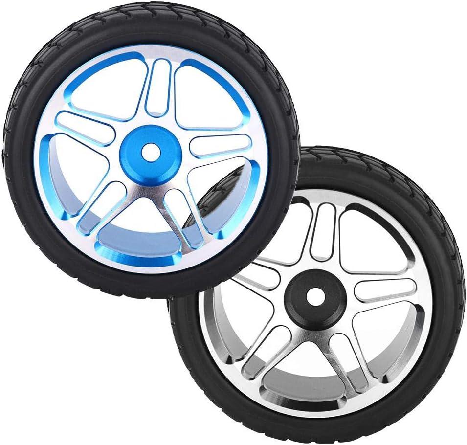 2PCS 1//10 RC Roue en Caoutchouc de Voiture de Camion pour ZD Racing Voiture Accessoire Pneu de Voiture RC Bleu