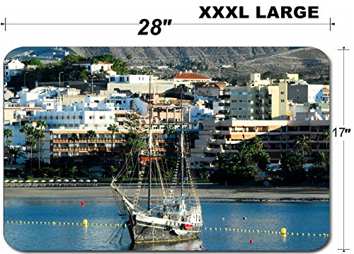 Liili Large Table Mat Non-Slip Natural Rubber Desk Pads IMAGE ID 33336942 Old Vintage Sail Boat in the Port of Tenerife Sourh Canary (Best Liili Nature Boas)