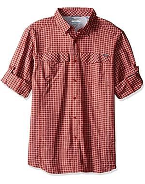 Men's Big-Tall Silver Ridge Plaid Long Sleeve Shirt, Rusty, Large
