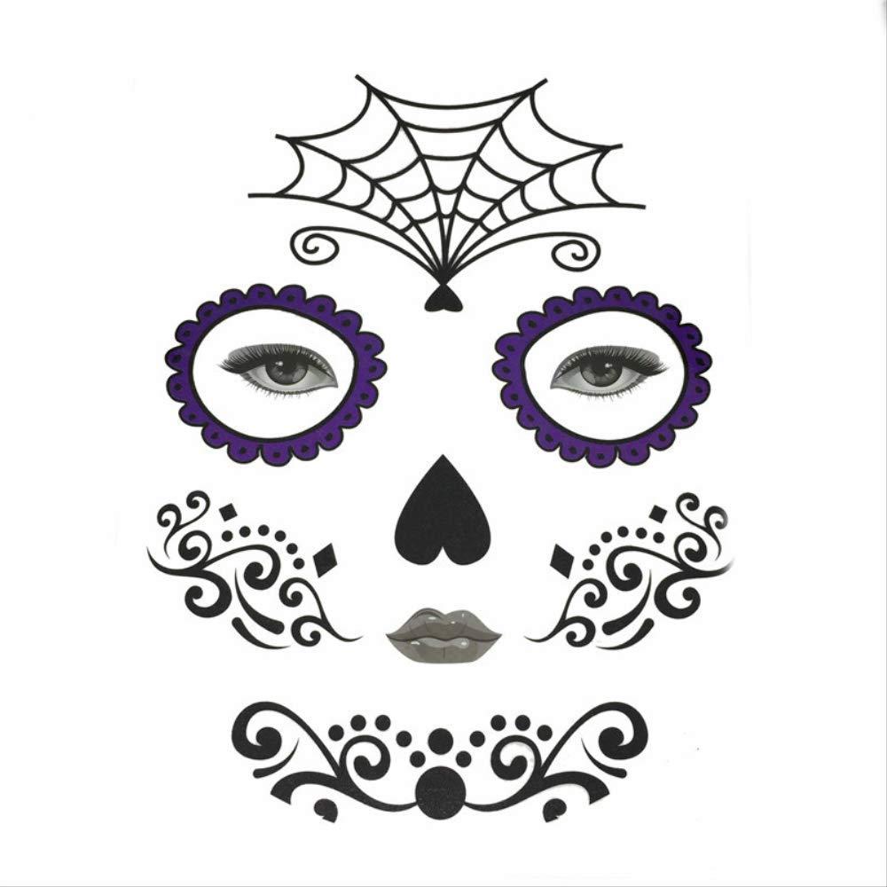 FANGQI calcomanía de Tatuaje para el día de los Muertos 01 Cobwebs ...