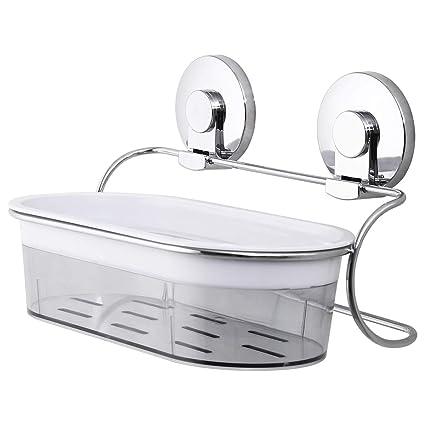 Accessori Da Bagno Con Ventosa.Taili Portaoggetti Da Doccia Con Ventosa Da Parete Per Organizzare Shampoo E Bagnoschiuma In Bagno O Gli Accessori In Cucina In Acciaio Inox