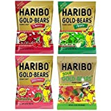 Haribo Gold Bears Gummi Candy Limited Edition Apple, Cherry, Watermelon and bonus Sour Flavored Bundle