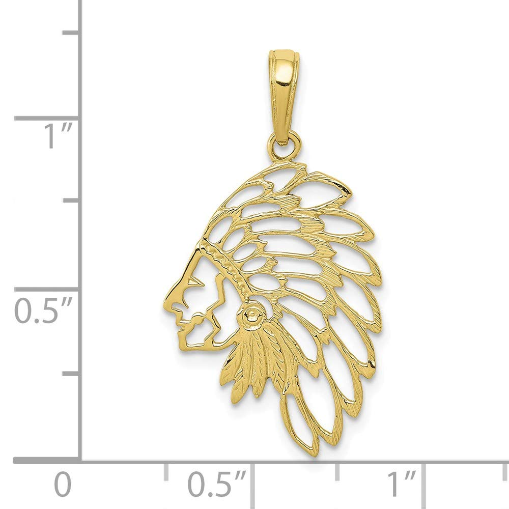 FB Jewels 10K Yellow Gold Profile Cut Out Pendant